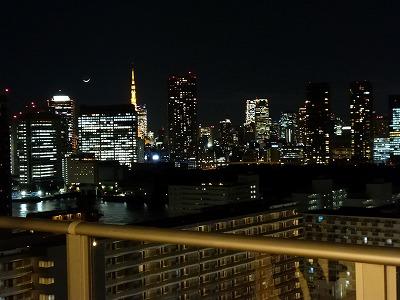 THE TOKYO TOWERSのバルコニーから見る夜景