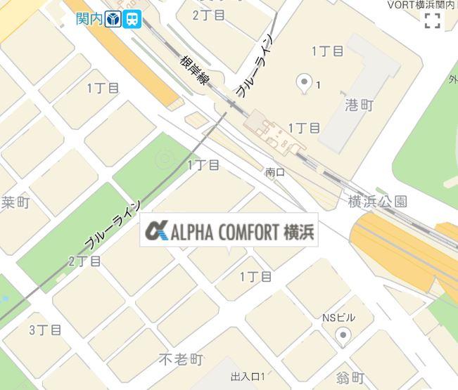 Kagumo(カグモ)アルファコンフォート横浜の案内図