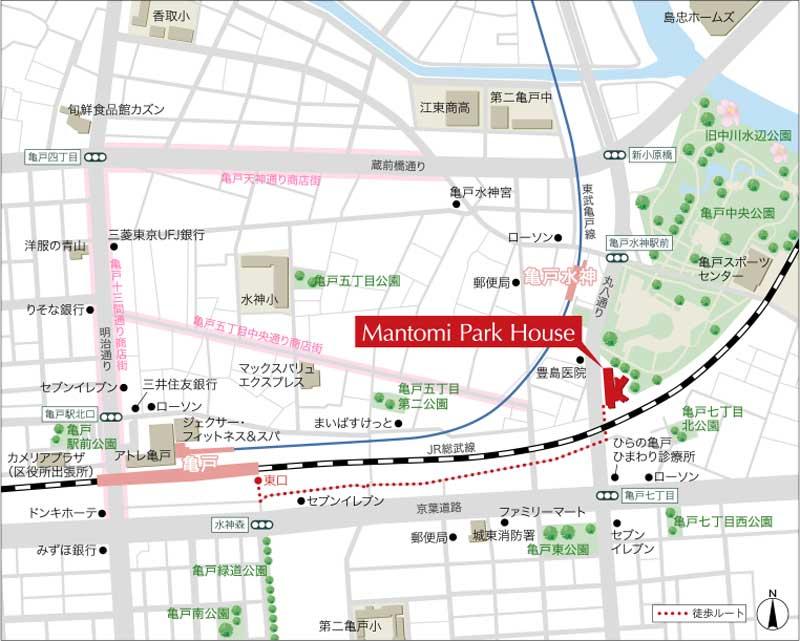 Kagumo(カグモ)マントミパークハウスの案内図