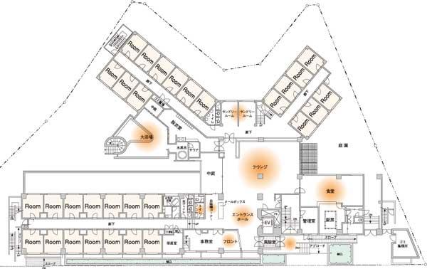 Kagumo(カグモ)マントミパークハウスの館内配置図