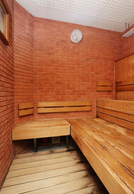 東京家具付き賃貸(マントミパークハウスのサウナ併設の大浴場)